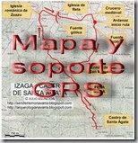 Mapa y soporte GPS - Alto de San Martín y Alto del Chaparro - Añorbe