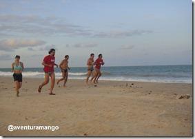 Treinamento na praia de Pirangi
