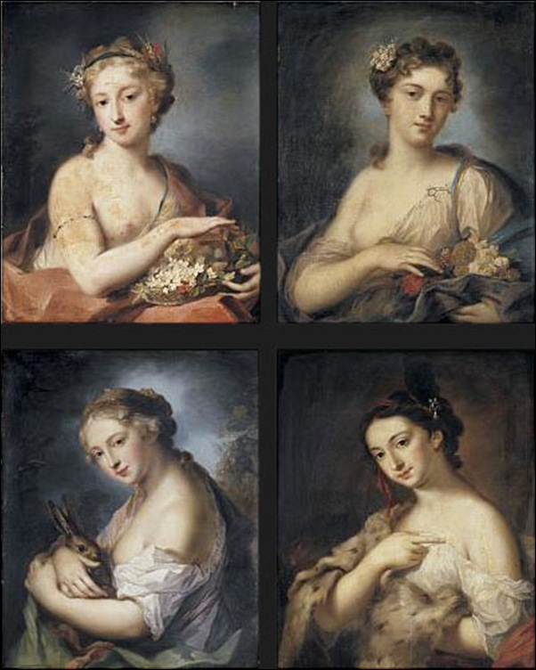 Rosalba Carriera, Les quatre saisons