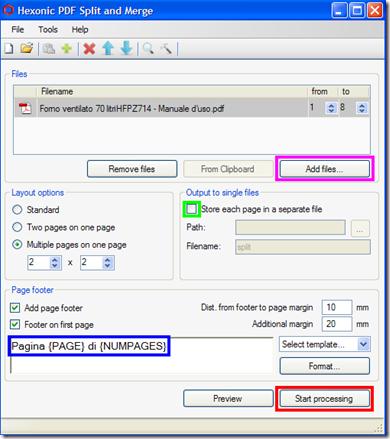 Hexonic PDF Split and Merge