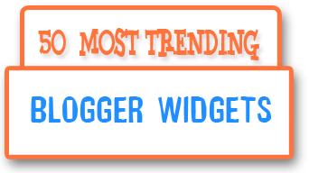 50 popular blogger widgets