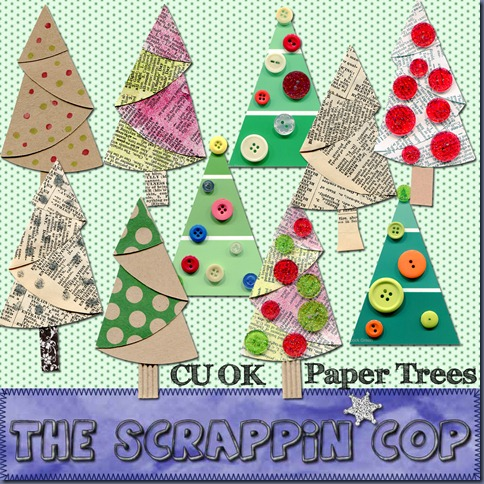 "Free ""Paper Trees"" from The Scrappin Cop - {CU}"
