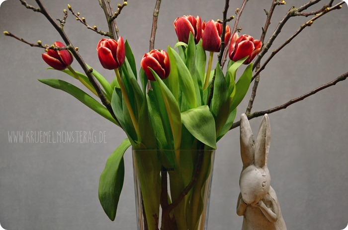 rote Tulpen (06) mit Kirschblütenzweigen am FridayFlowerday