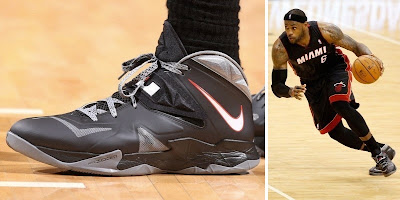 nike zoom soldier 7 pe timeline 140520 shoe soldier7 blackgreype King James and His 26 Different Nike Zoom Soldier VIIs in 2013 14
