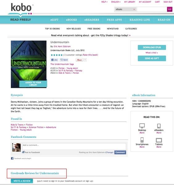 Kobobooks Book Page