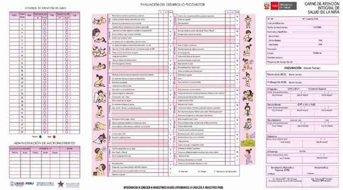 carnet de vacunacion de mujer