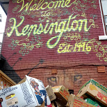 welcome to kensington market sign in Toronto, Ontario, Canada