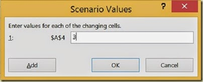 Scenario Analysis in Excel - 3rd Scenario Value