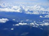 Gunung Raya (left) and Lake Kerinci seen from the air (Dan Quinn, August 2013)