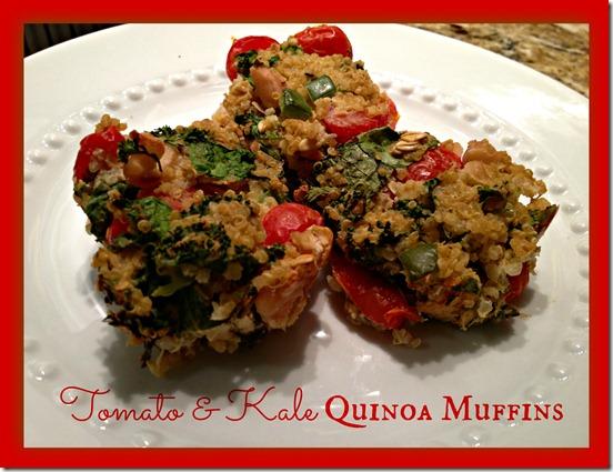 Tomato & Kale Quinoa Muffins