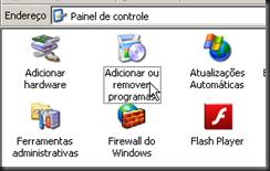 Windows XP : Painel de Controle : Adicionar ou remover programa