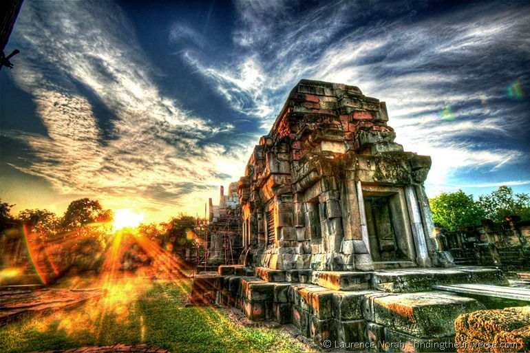 Sunset temple near Korat final