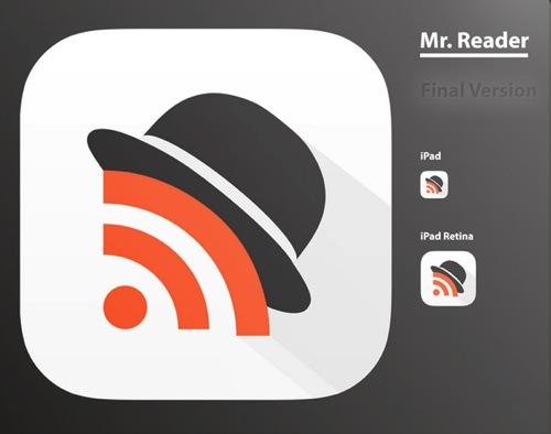 Mr reader ipad rss reader icon design history final