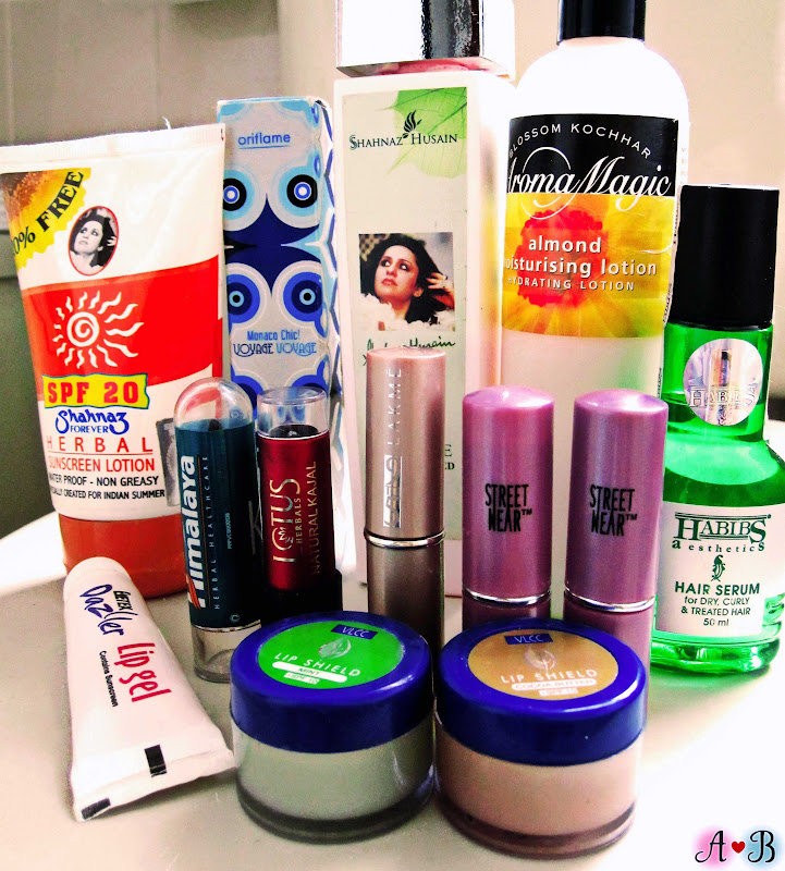 Indian Products Haul - Shahnaz Husain, Habibs, VLCC, Lakme, Oriflame and more