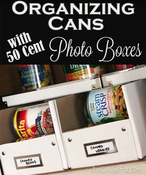 Organizing Cans with Photo Boxes