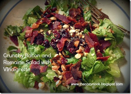 Crunchy Bacon and Romaine Salad with Vinaigrette
