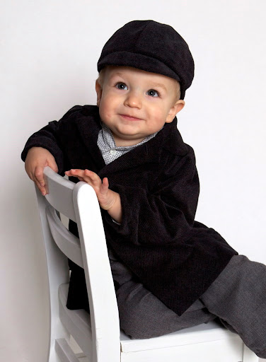 Henry (18 months) wearing a coat and hat I made for him from McCall's 6255 (vintage, 1962).  Photo by Jennifer Morrison Photography.