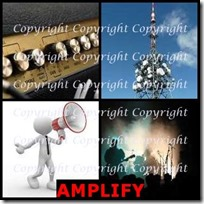 AMPLIFY- 4 Pics 1 Word Answers 3 Letters