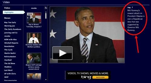 MSNBC-RomneyObamaNotReallyNewsAnymore