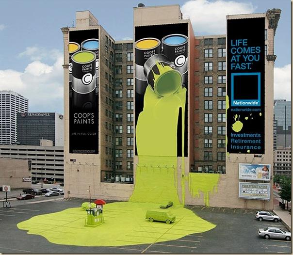 Publicités sur immeubles-paint