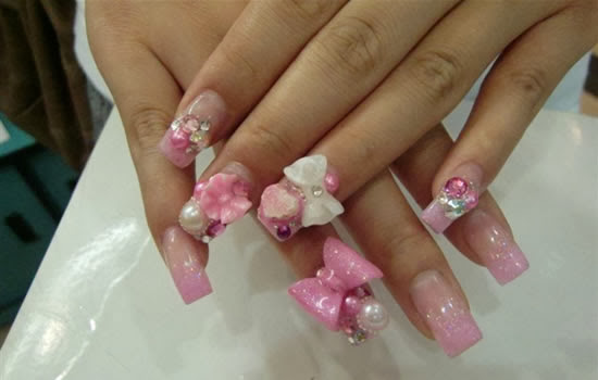Nail Designs With 3d Bows Nail Designs Hair Styles Tattoos And