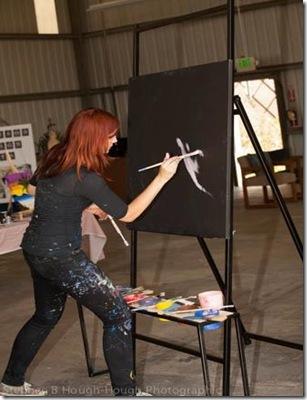 Artist Amy Burkman - Charity Wings Art Center soft opening - CharityWingsNews.blogspot.com