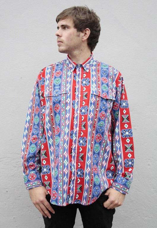 Vintage Aztec Print Western Shirt, £35, Sam Greenberg Vintage