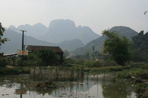 Looking out at the surrounding countryside of Hoa Lu.
