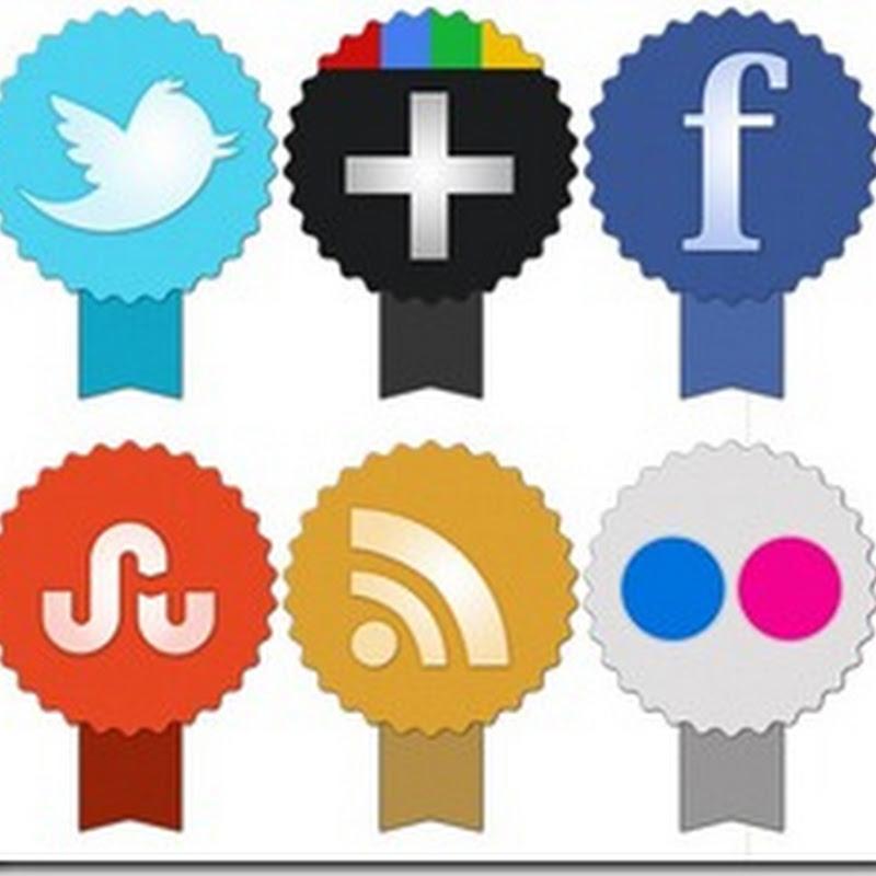 25 Links com Lindos Ícones Sociais para o seu Blog