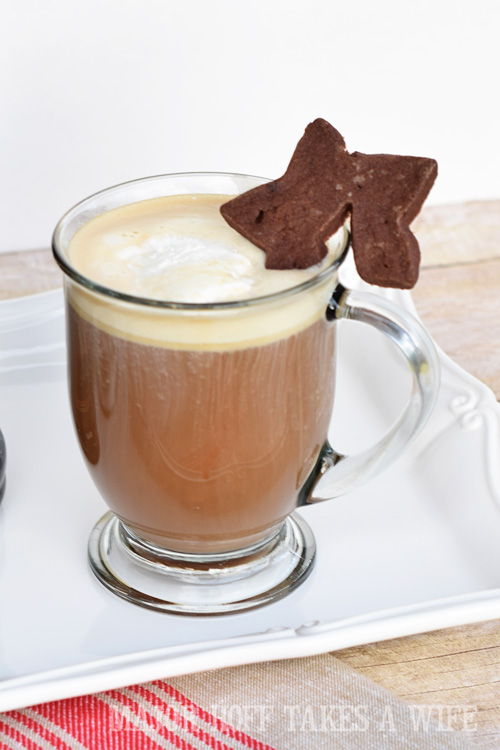 Decorate a fun Holiday Drink with a Star cookie