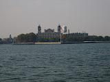 Ellis Island where the emigrants landed when they reached the States