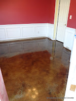 Brown stain in a dining room