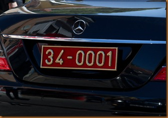 Istanbul, numberplate