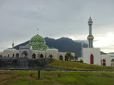 Gunung Ranai seen in the late afternoon from near the new mosque (Dan Quinn, September 2013)