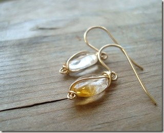 citrine wrap earr09