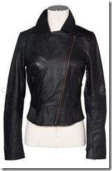 Kookai Black Leather Jacket
