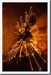 Grytviken church Christmas tree