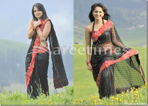 Anushka_Black_Saree