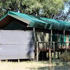Pom Pom Camp, Zelt von hinten © Foto: Ulrike Pârvu | Outback Africa Erlebnisreisen
