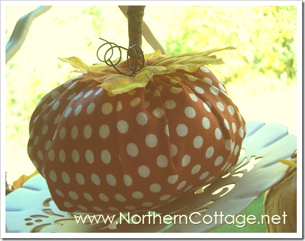 cozy fabric pumpkin@NorthernCottage.net