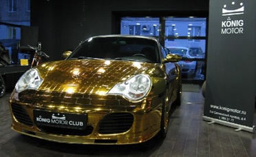 Gold-Porsche-911-Redefines-Gaudy-in-Russian-Showroom