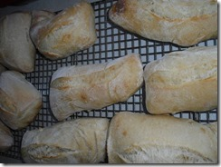 half-baked baguette rolls