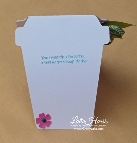 CTMH Love you a latte card B1404 Cup of Cheer