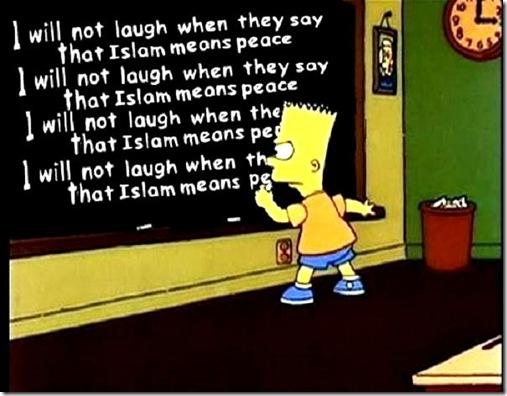 Islam means peace - Bart Simpson