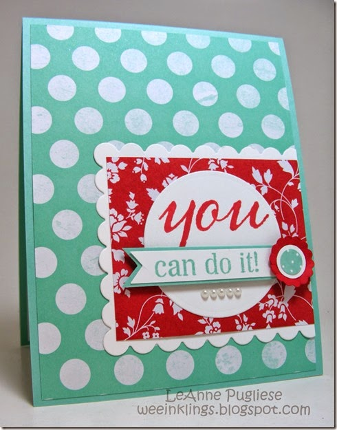 LeAnne Pugliese WeeInklings You Can Do It Stampin Up