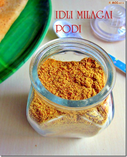 Nice one, need more podi recipe images like this