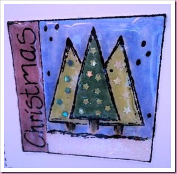 Stamped Christmas Tree Card