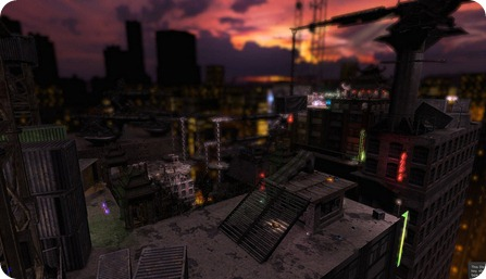 One of my Unreal levels:  Rooftops