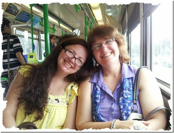 Wendy and I on tram