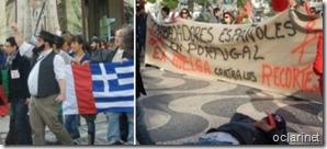 Portugueses e estrangeiros greve geral.Nov.2012